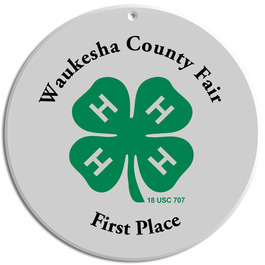 Full Color Wall Fair, Festival & 4-H Plaques - Round Shape