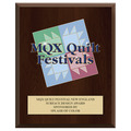 Full Color Fair, Festival & 4-H Award Plaque - Cherry Finish w/ Engraved Plate