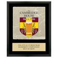 Full Color Fair, Festival & 4-H Award Plaque  - Black w/ Tumbled Stone Tile & Engraved Plate