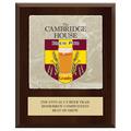 Full Color Fair, Festival & 4-H Award Plaque  - Cherry Finish w/ Tumbled Stone Tile & Engraved Plate