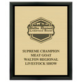 Fair, Festival & 4-H Award Plaque - Black w/ Engraved Plate