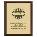 Fair, Festival & 4-H Award Plaque - Cherry Finish w/ Engraved Plate