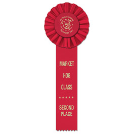 Ideal 1 Fair, Festival & 4-H Rosette Award Ribbon