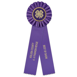 Ideal 2 Fair, Festival & 4-H Rosette Award Ribbon