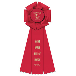 Beauty Fair, Festival & 4-H Rosette Award Ribbon