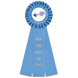 Luxury Fair, Festival & 4-H Rosette Award Ribbon