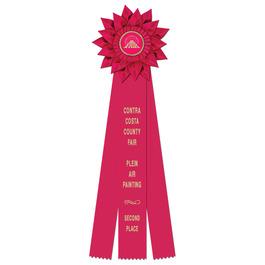 Sunburst Fair, Festival & 4-H Rosette Award Ribbon