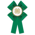 Stock Clover 4-H Rosette Award Ribbon