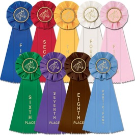 Stock Single Equestrian Empire Rosette Award Ribbon