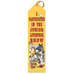 Junior Livestock Show Fair, Festival & 4-H Award Ribbon