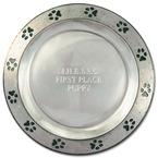 Pewtarex™ Paw Print Rim Award Plate