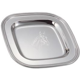 Engraved Silver Fair, Festival & 4-H Award Tray w/ Horse Stock Logo