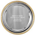 Round Fair, Festival & 4-H Award Tray w/ Gold Border