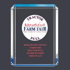 Blue Shimmer Acrylic Fair, Festival & 4-H Award Trophy