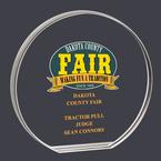 Round Acrylic Fair, Festival & 4-H Award Trophy