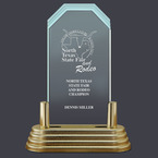 Pop-In™ Jade Acrylic Fair, Festival & 4-H Award Trophy w/ Pedestal Base