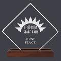 Diamond Fair, Festival & 4-H Acrylic Award Trophy w/ Walnut Base