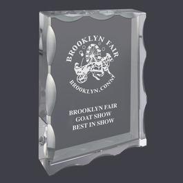 Rectangular Optical Crystal Fair, Festival & 4-H Award