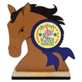 Horse Head Shape Birchwood Fair, Festival & 4-H Award Trophy w/ Natural Birchwood Base