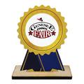 Rosette Shape Birchwood Fair, Festival & 4-H Award Trophy w/ Natural Birchwood Base