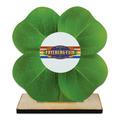 Clover Shape Birchwood Fair, Festival & 4-H Award Trophy w/ Natural Birchwood Base