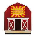 Barn Shape Birchwood Fair, Festival & 4-H Award Trophy w/ Natural Birchwood Base