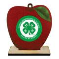 Apple Shape Birchwood Fair, Festival & 4-H Award Trophy w/ Natural Birchwood Base