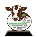Custom Shape Birchwood Fair, Festival & 4-H Award Trophy w/ Black Base