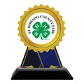 Birchwood Rosette Fair, Festival & 4-H Trophy w/ Black Base