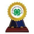 Birchwood Rosette Fair, Festival & 4-H Trophy w/ Rosewood Base