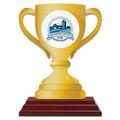 Loving Cup Shape Birchwood Fair, Festival & 4-H Award Trophy w/ Rosewood Base