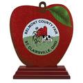 Apple Shape Birchwood Fair, Festival & 4-H Award Trophy w/ Rosewood Base