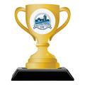 Loving Cup Shape Birchwood Fair, Festival & 4-H Award Trophy w/ Black Base