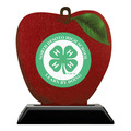 Apple Shape Birchwood Fair, Festival & 4-H Award Trophy w/ Black Base