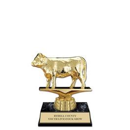 "5-1/2"" Black Faux Marble Base Fair, Festival & 4-H Award Trophy"