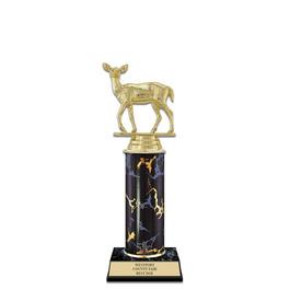 "10"" Black Faux Marble Fair, Festival & 4-H Award Trophy"