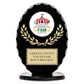 Black Free Standing Oval Fair, Festival & 4-H Trophy