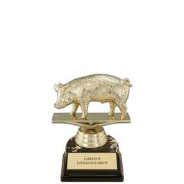 "5-1/2"" Black HS Base Fair, Festival & 4-H Award Trophy"