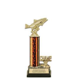 "12"" Black HS Base Fair, Festival & 4-H Award Trophy w/ Trim"