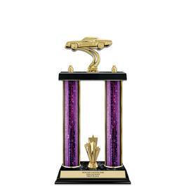 """15"""" Black Finished Fair, Festival & 4-H Award Trophy w/ Trim"""