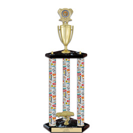 "26"" Black Finished Fair, Festival & 4-H Award Trophy w/ Insert Top"