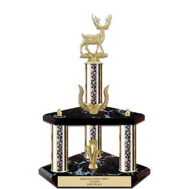 """15"""" Black Finished Fair, Festival & 4-H Award Trophy w/ Wreath & Trim"""