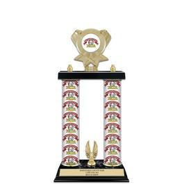 "15"" Design Your Own Fair, Festival & 4-H Award Trophy w/ Custom Column, Trim & Insert Top"
