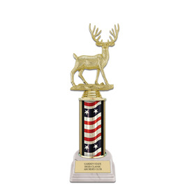 "10"" White HS Base Fair, Festival & 4-H Award Trophy"