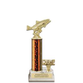 """12"""" White HS Base Fair, Festival & 4-H Award Trophy w/ Trim"""