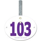 Oval Fair, Festival & 4-H Exhibitor Number w/ Hook