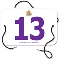 Indurotec(TM) Custom Full Color Small Rectangular Fair, Festival & 4-H Exhibitor Number w/ String