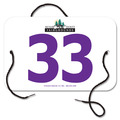 Indurotec(TM) Custom Full Color Large Rectangular Fair, Festival & 4-H Exhibitor Number w/ String