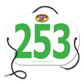 Custom Large Oval Fair, Festival & 4-H Exhibitor Number w/ String