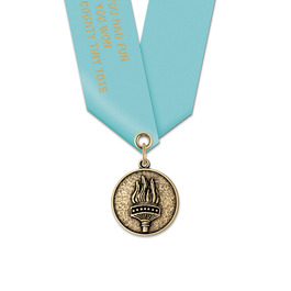 CX Football Award Medal w/ Satin Neck Ribbon